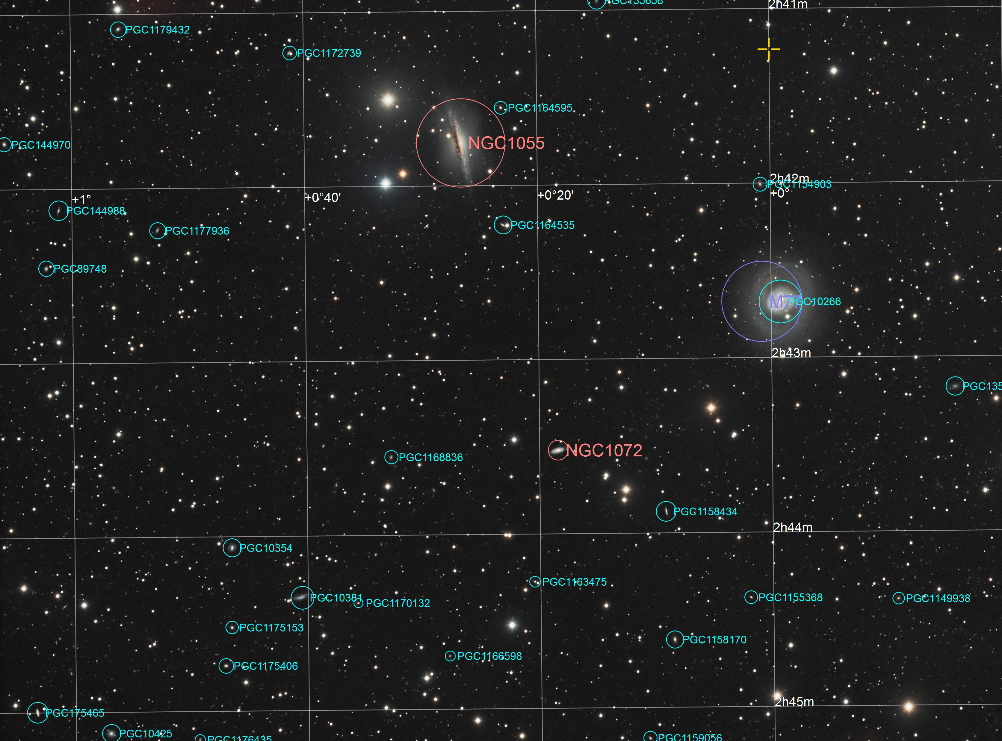 M77, TS102/700  astroJM 4_M77_Annotated