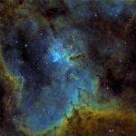 IC 1805 zoom sur le coeur