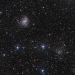 La galaxie du feu d'artifice : ngc 6946 et l'amas : ngc 6939